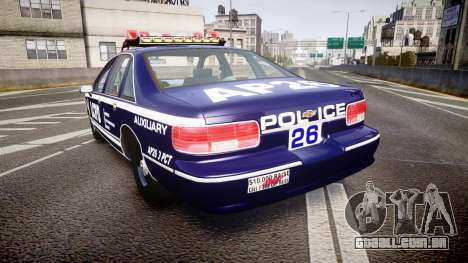 Chevrolet Caprice 1994 LCPD Auxiliary [ELS] para GTA 4 traseira esquerda vista