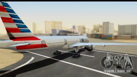 Boeing 777-200ER American Airlines para GTA San Andreas esquerda vista