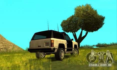 Beta Police Ranger para GTA San Andreas esquerda vista