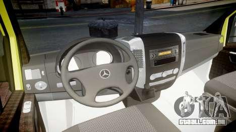Mercedes-Benz Sprinter Ambulance [ELS] para GTA 4 vista de volta
