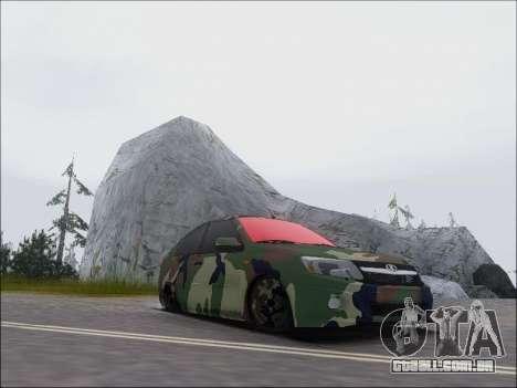 Lada Granta Liftback Coupe para GTA San Andreas vista traseira