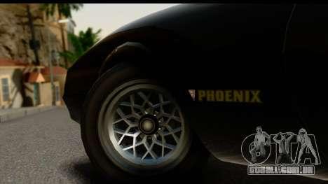 GTA 5 Imponte Phoenix IVF para GTA San Andreas vista interior