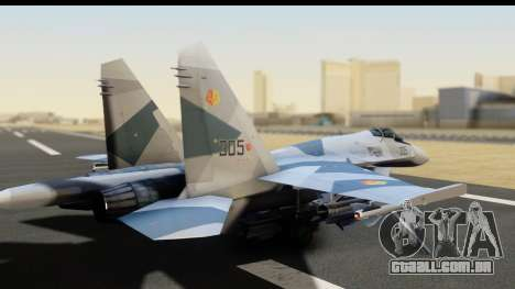 SU-35BM Yuktobanian Air Force para GTA San Andreas esquerda vista