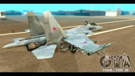 SU-37 Terminator Russian AF Camo para GTA San Andreas esquerda vista