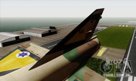 Dassault Mirage III AFI para GTA San Andreas traseira esquerda vista