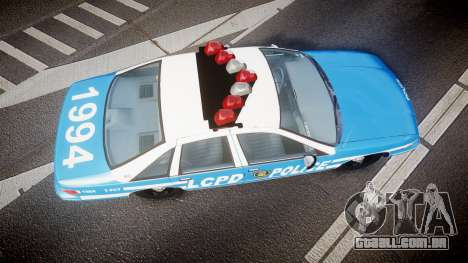 Chevrolet Caprice 1994 LCPD Patrol [ELS] para GTA 4 vista direita