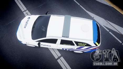 Ford Fusion Estate Belgian Police [ELS] Dog Unit para GTA 4 vista direita