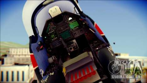 Dassault Mirage 2000-10 Black para GTA San Andreas vista traseira
