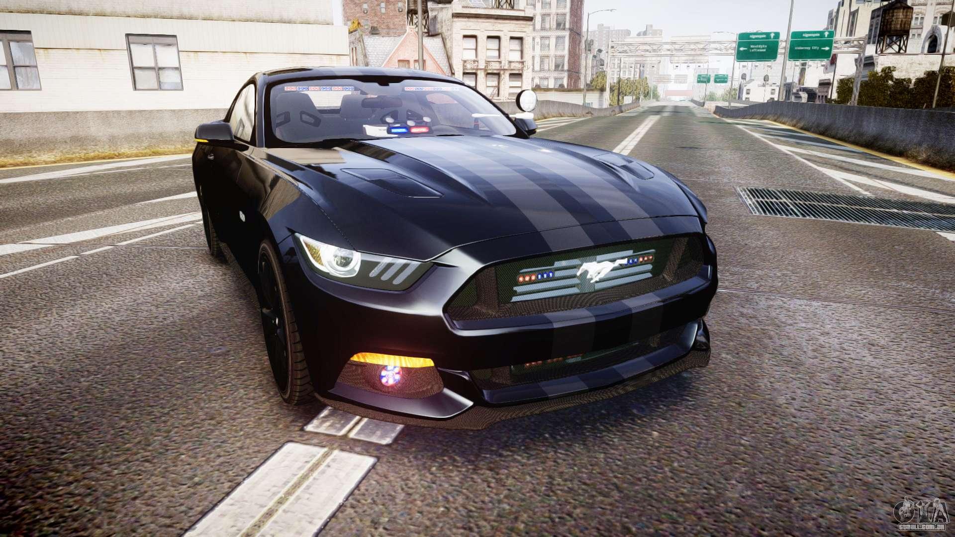 Ford Mustang Gt 2015 Fbi Unmarked Els Para Gta 4
