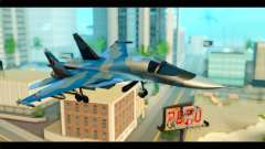 SU-34 Fullback Russian Air Force Camo Blue para GTA San Andreas
