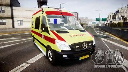 Mercedes-Benz Sprinter 311 cdi Belgian Ambulance para GTA 4