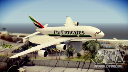 Airbus A380-800 Fly Emirates Airline para GTA San Andreas