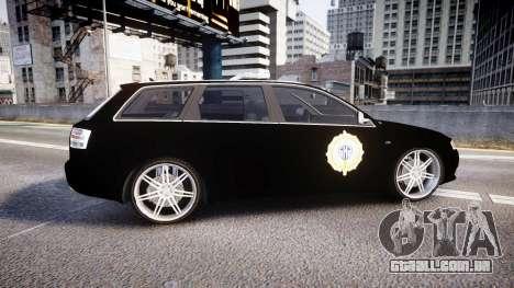 Audi S4 Avant Serbian Police [ELS] para GTA 4 esquerda vista