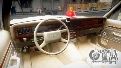 Ford LTD Crown Victoria 1987 Detective [ELS] v2 para GTA 4 vista de volta