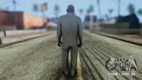 Pilot Skin from GTA 5 para GTA San Andreas segunda tela