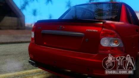 VAZ 2170 AMG para GTA San Andreas vista traseira