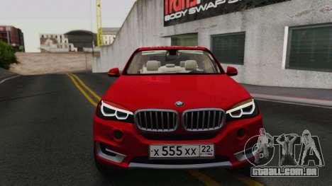 BMW X5 F15 2014 para GTA San Andreas esquerda vista