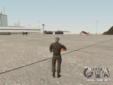 O airborne soldado da Ucrânia para GTA San Andreas terceira tela