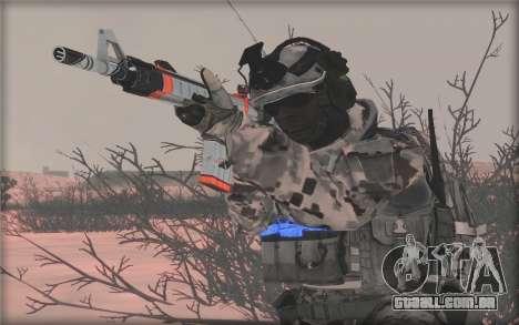 BF3 Soldier para GTA San Andreas por diante tela