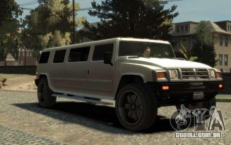 Mammoth Patriot Limousine para GTA 4 vista direita