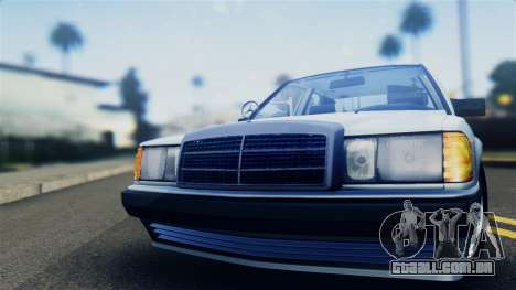 Mercedes-Benz 190E (W201) para GTA San Andreas traseira esquerda vista