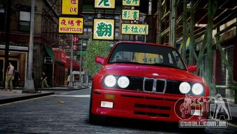 BMW M3 E30 para GTA 4 vista de volta