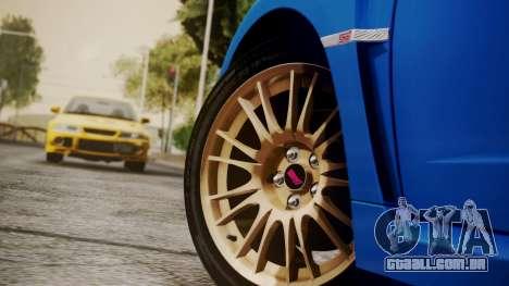 Subaru Impreza WRX STI 2008 PJ para GTA San Andreas vista direita