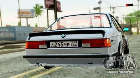 BMW M635CSi E24 1984 para GTA San Andreas esquerda vista