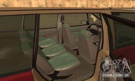 Renault Espace 2000 GTS para GTA San Andreas vista inferior