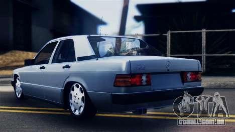 Mercedes-Benz 190E (W201) para GTA San Andreas esquerda vista