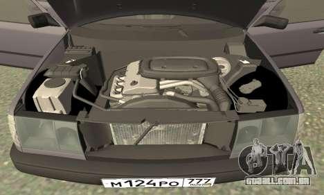 Mercedes-Benz W124 E200 para GTA San Andreas vista interior