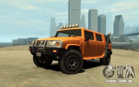 Mammoth Patriot Pickup v2 para GTA 4 vista interior