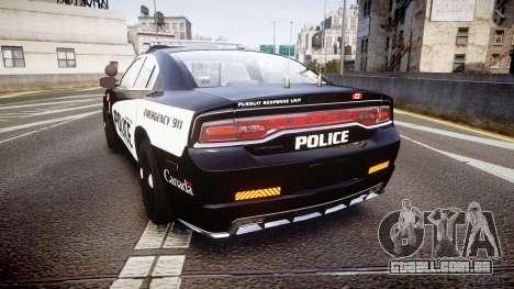 Dodge Charger Alderney Police para GTA 4 traseira esquerda vista