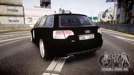Audi S4 Avant Serbian Police [ELS] para GTA 4 traseira esquerda vista