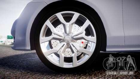 Audi A7 para GTA 4 vista de volta