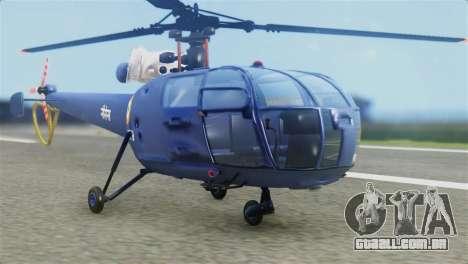Indian Navy CHETAK Heli Skin para GTA San Andreas