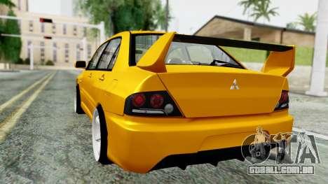 Mitsubishi Lancer Evolution IX para GTA San Andreas esquerda vista