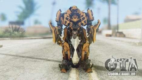 Bumblebee Skin from Transformers v2 para GTA San Andreas segunda tela