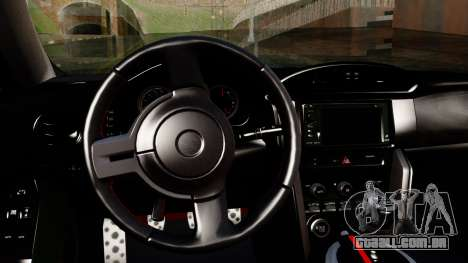 Toyota GT86 (ZN6) 2012 PJ para GTA San Andreas vista direita
