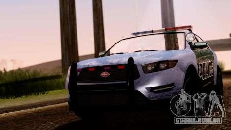 GTA 5 Vapid Police Interceptor v2 SA Style para GTA San Andreas vista direita