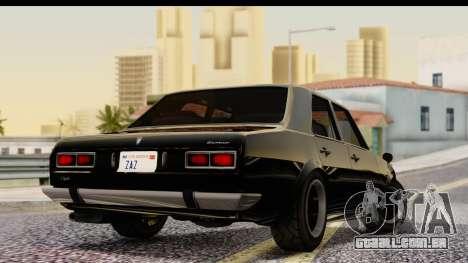 GTA 5 Vulcar Warrener IVF para GTA San Andreas esquerda vista