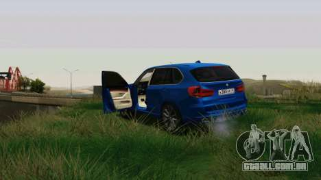 BMW X5 F15 2014 para GTA San Andreas vista interior