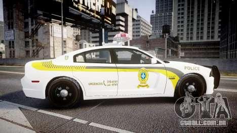 Dodge Charger Surete Du Quebec [ELS] para GTA 4 esquerda vista