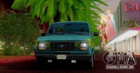 Ford E-150 Scooby Doo para GTA San Andreas esquerda vista