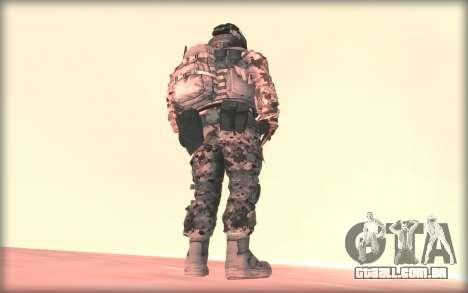 BF3 Soldier para GTA San Andreas segunda tela