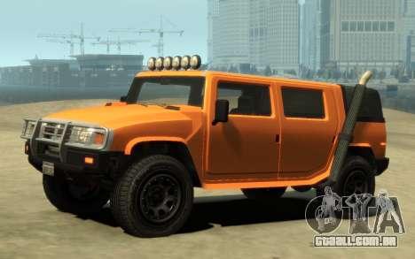 Mammoth Patriot Pickup v2 para GTA 4