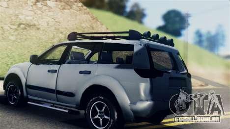 Mitsubishi Pajero 2014 Sport Dakar Offroad para GTA San Andreas esquerda vista