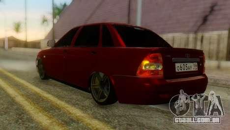 Lada Priora Sedan para GTA San Andreas esquerda vista