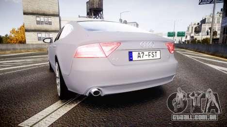 Audi A7 para GTA 4 traseira esquerda vista