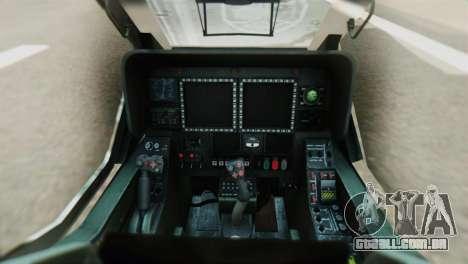 Changhe WZ-10 para GTA San Andreas vista traseira